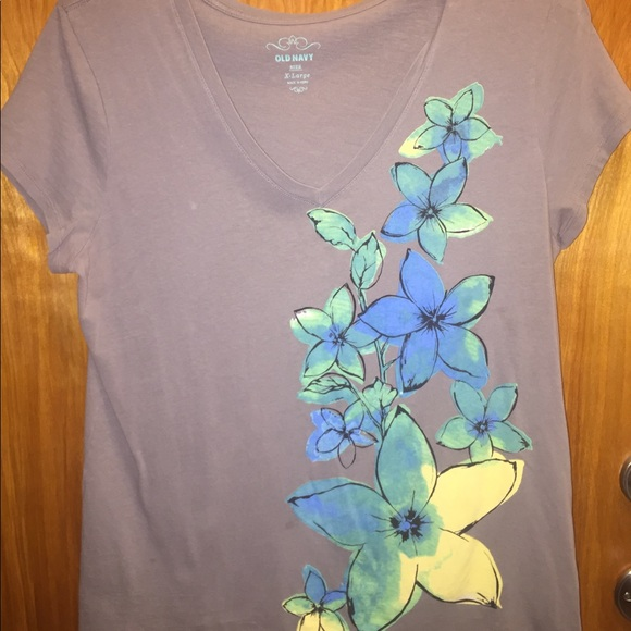 12c7c723f Old Navy and Route 66 Tops | Shirt Bundle 2 Bold Flower Cute Brown ...